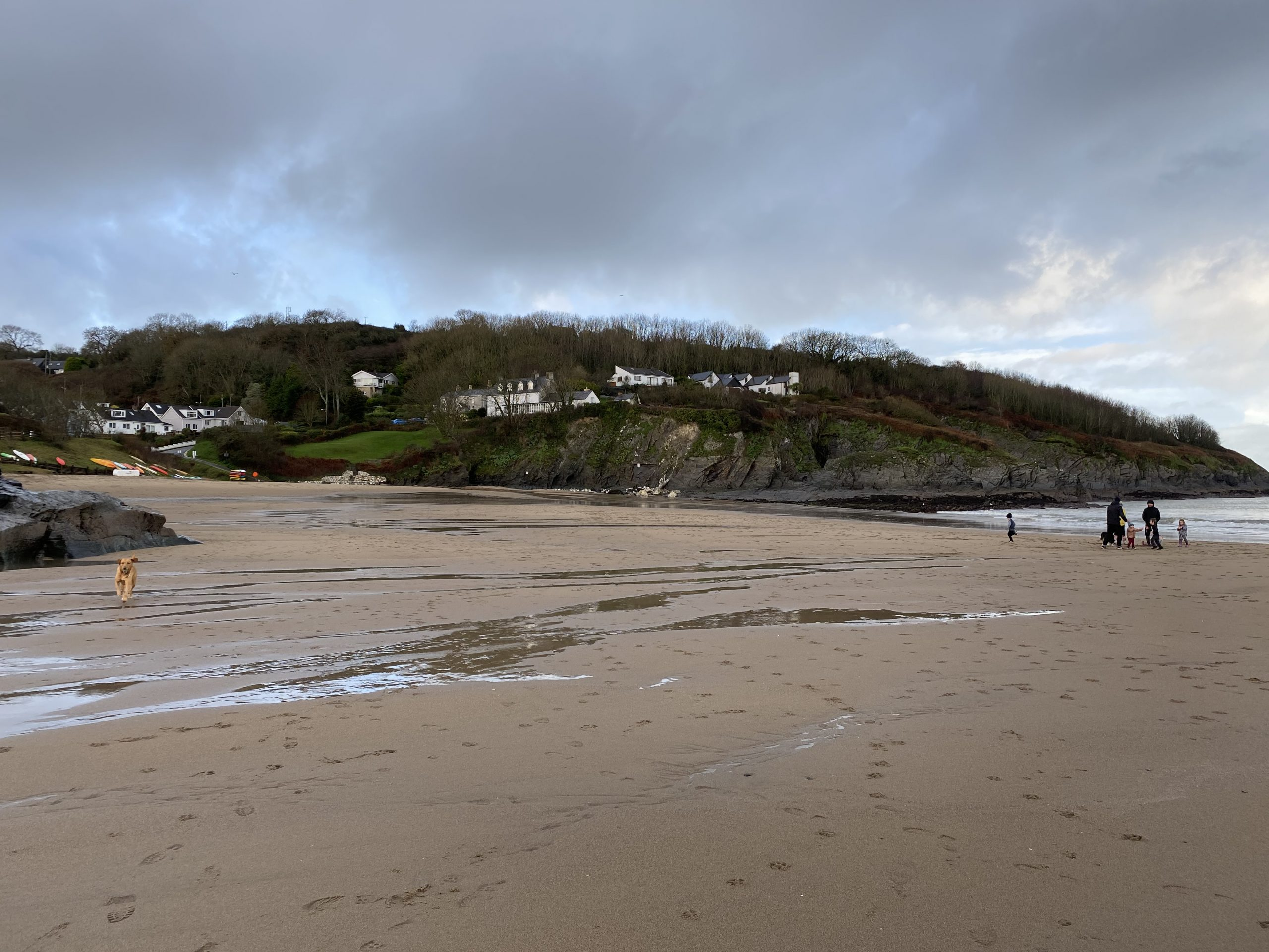 On the beach at Aberporth