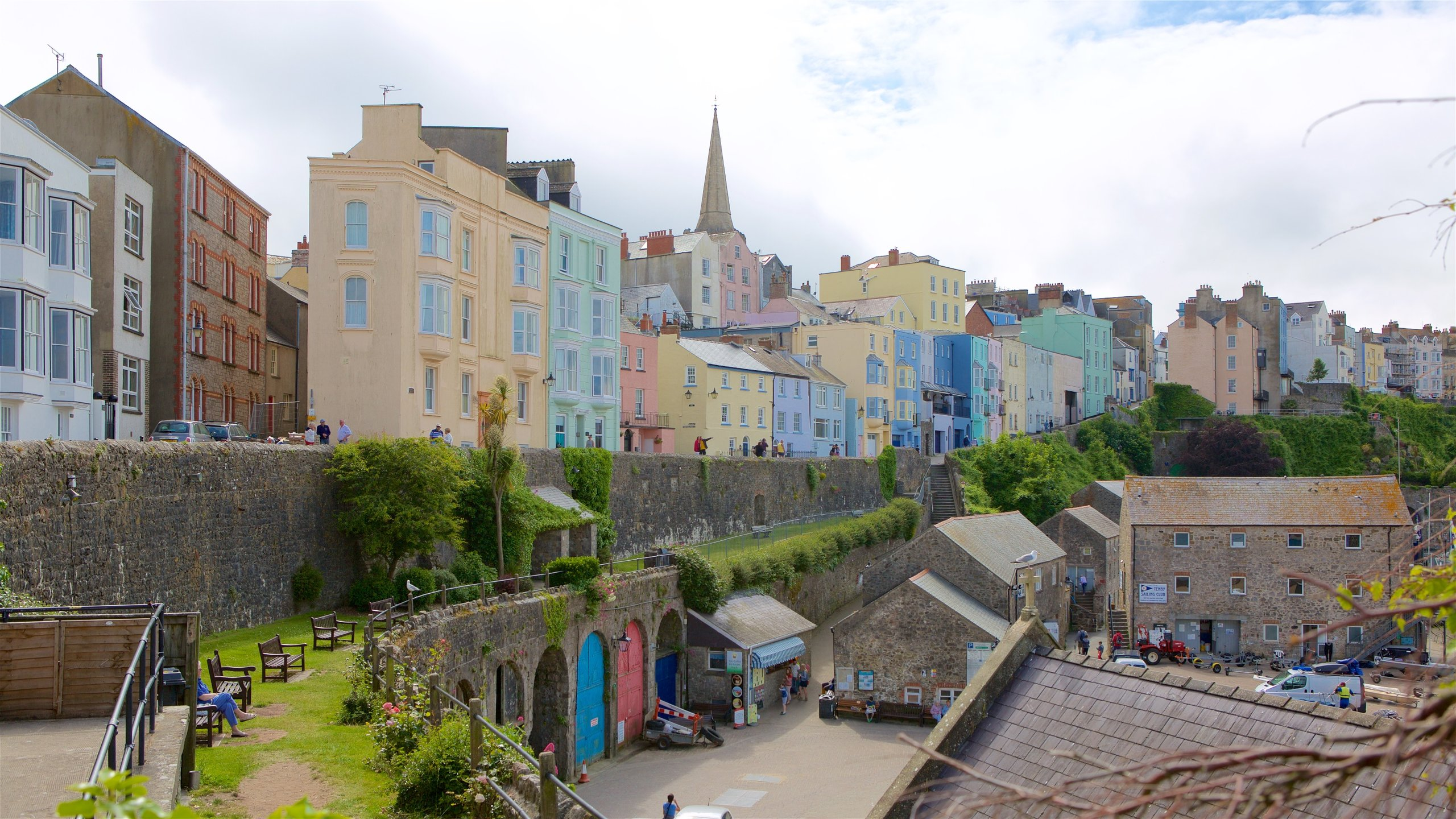 Tenby walled town